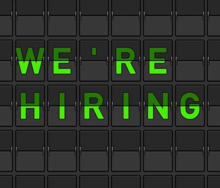 We Are Hiring Flip Board Vector
