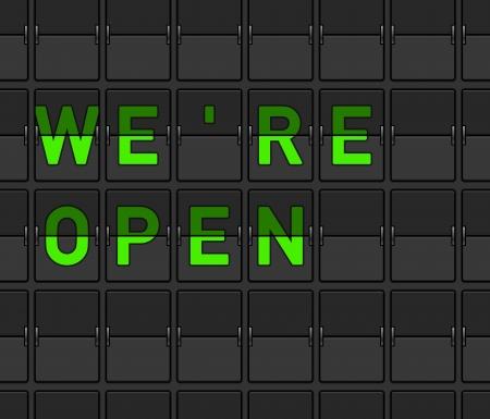 We Are Open Flip Board Stock Vector - 15782239