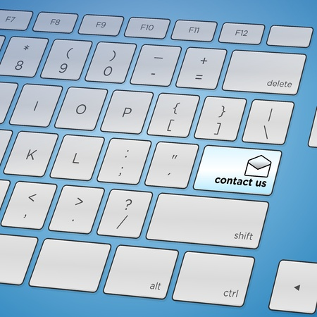 Contact Us Keyboard Stock Vector - 15782693