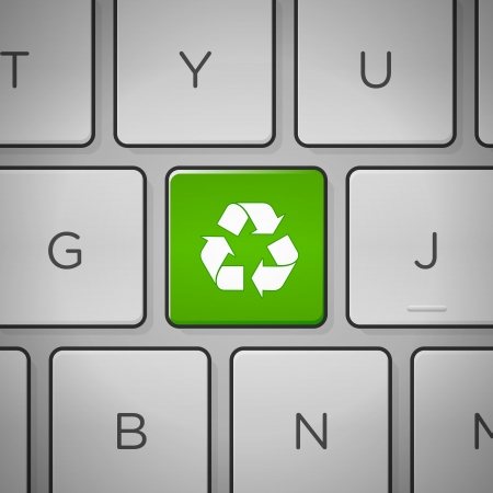 Recycle Sign Keyboard Stock Vector - 15782674