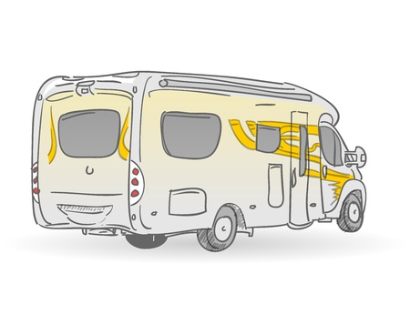 retirement home: Recreational Vehicle Illustration Illustration