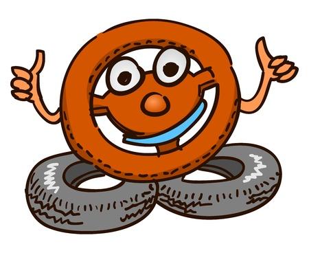 steering wheel: Steering Wheel Mascot