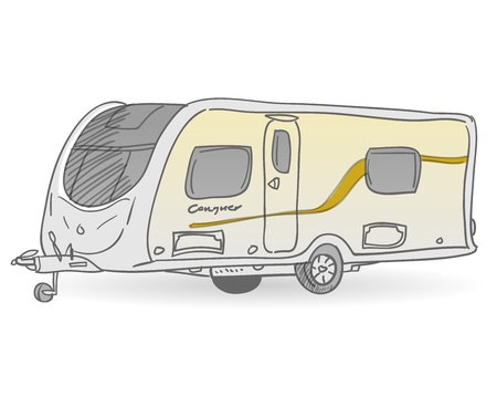 motor home: Towing Caravan