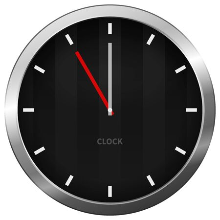 Dark Clock Stock Vector - 15782648