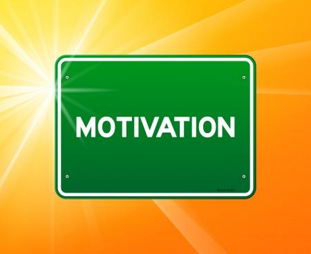 go green: Motivation Green Sign Illustration