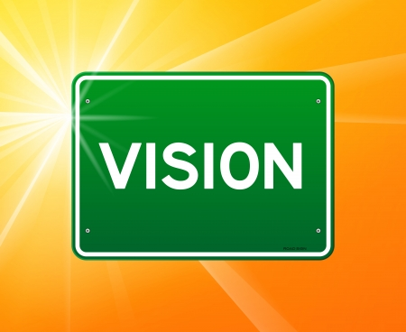 Vision Green Sign Stock Vector - 15782655