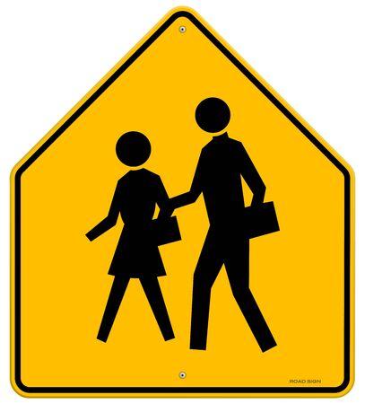 School Warning Sign Stock Vector - 15782212