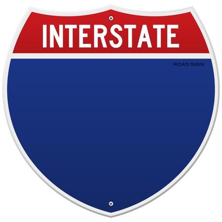 Geïsoleerde Interstate Sign Vector Illustratie