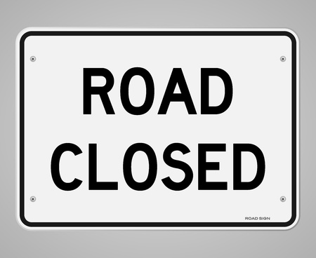 divert: Road Closed Sign
