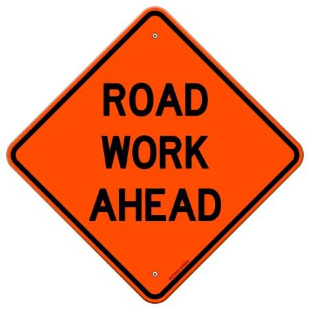 Road Work Ahead Sign Illustration