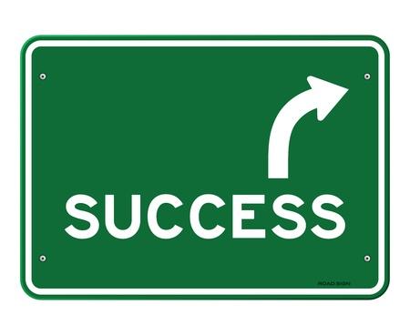 turn sign: Success Sign