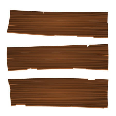 Three Old Planks Vector