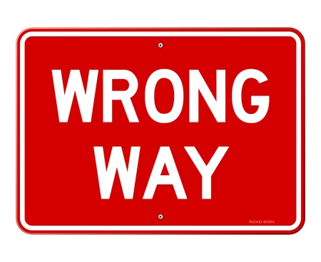 Wrong Way Sign Illustration