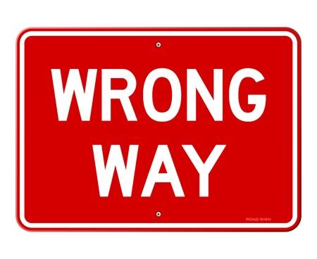 traffic violation: Wrong Way Sign Illustration