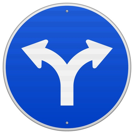 two arrows: Blue Sign with two Arrows