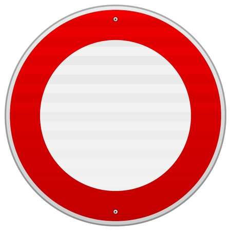 No Traffic Red Sign Stock Vector - 16498994