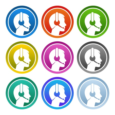 call center agent: Contacto Icon Set