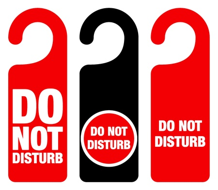 hotel room door: Do Not Disturb Sign