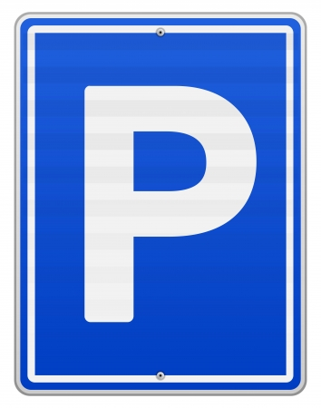 a lot: Isolated Parking Sign