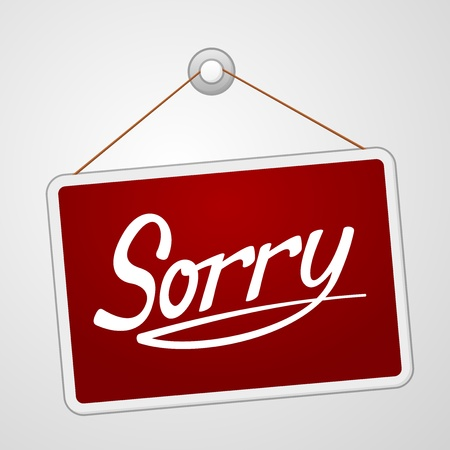 apologise: Sorry Storefront Sign
