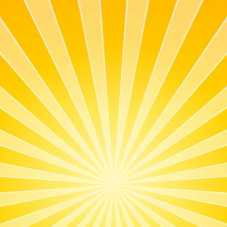 明るい光と花の黄色の梁  イラスト・ベクター素材