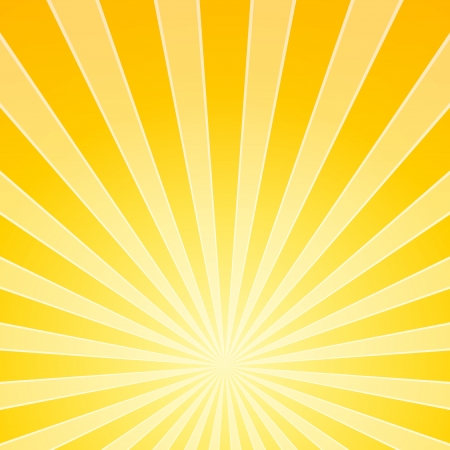 heat radiation: Yellow Bright Ligh Beams Illustration