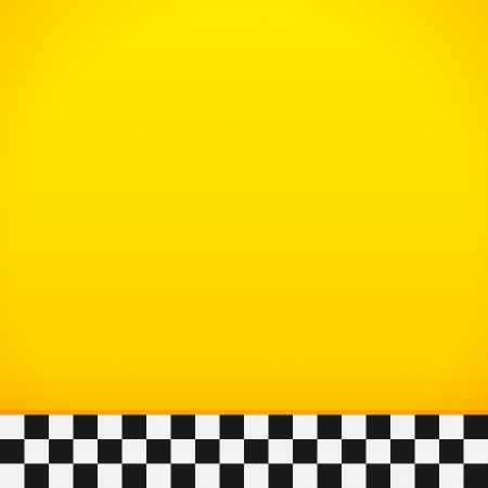 yellow taxi: Taxi Checkerboard Pattern