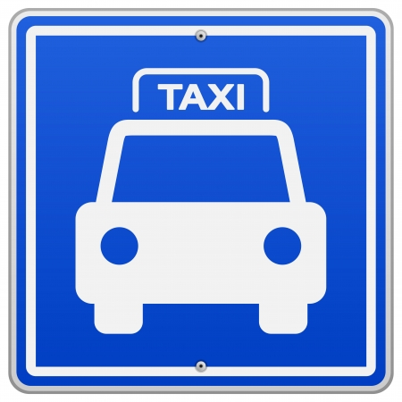 cabbie: Taxi Azul Sign