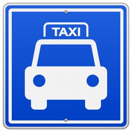 taxista: Taxi Azul Sign