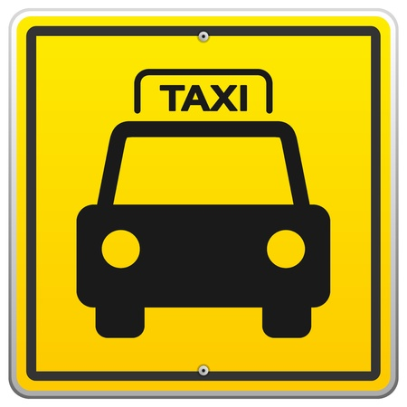 new york taxi: Taxi Sign in New York Illustration