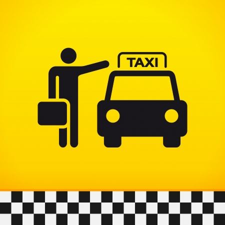 cars parking: Taxi Theme with Passenger