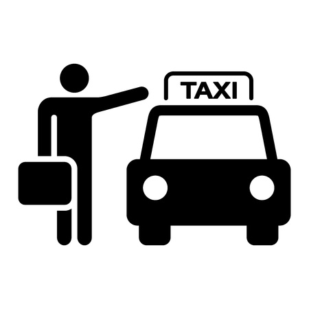 transportation silhouette: Taxi Sign Silhouette