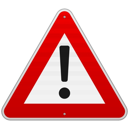 Isolated Alert Triangle Sign Stock Vector - 17052390