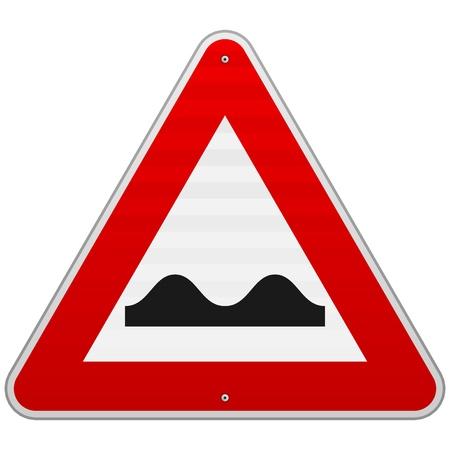 でこぼこの道路標識