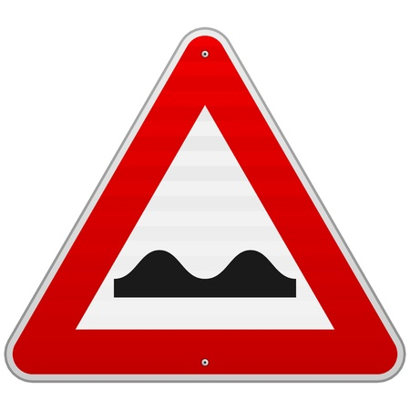 Bumpy Road Sign Vector