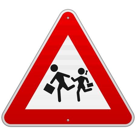 歩行者の危険の印