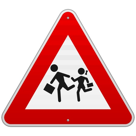 Pedestrian Danger Sign Stock Vector - 17063909