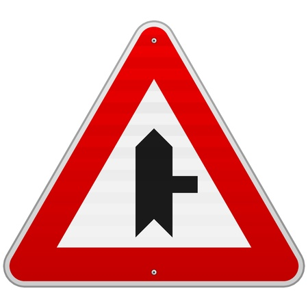 Right Junction Sign Stock Vector - 17063906