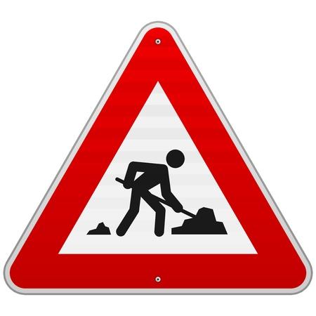 dig up: Construction Road Sign Illustration