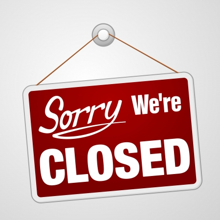 retail shop: Estamos cerrados Ingresar