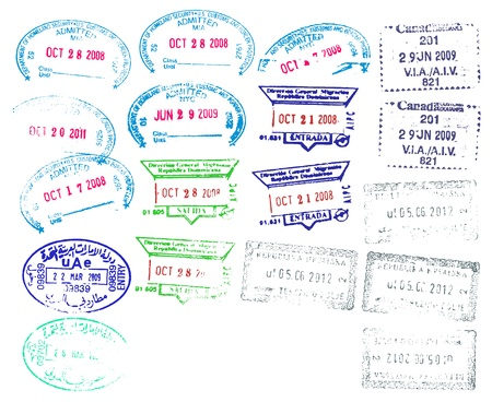 visa approved: Border Stamps