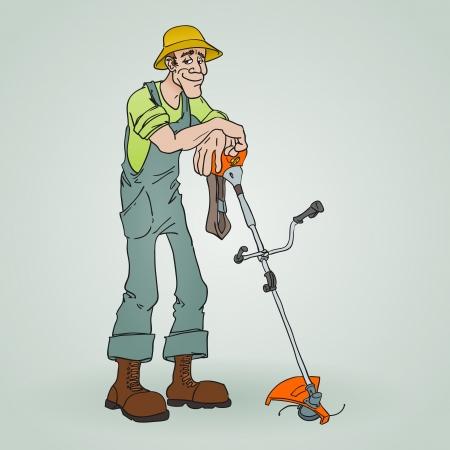 Gardener with Reaper Vetores