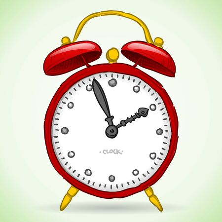 Red Alarm Clock Stock Vector - 17924512
