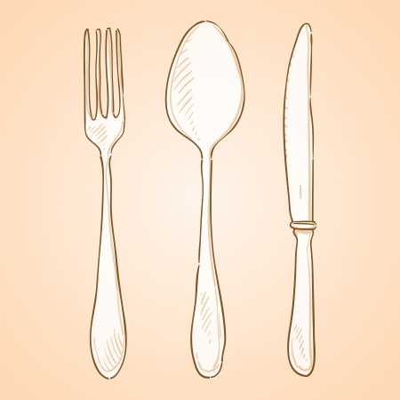 Rough Cutlery Illustration Stock Vector - 17924482