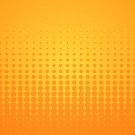 オレンジ色のハーフトーンのパターン
