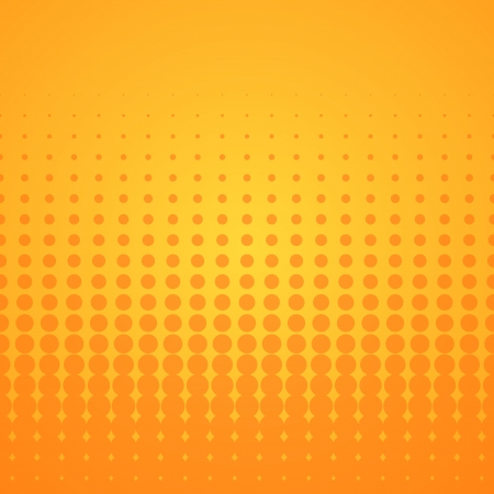halftone: Orange Halftone Pattern