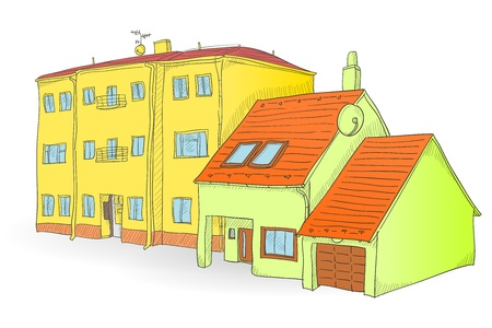 Handmade buildings Stock Vector - 17924511