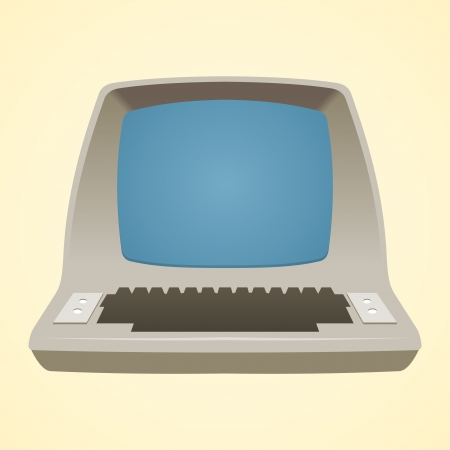 Old Computer Stock Vector - 18813888
