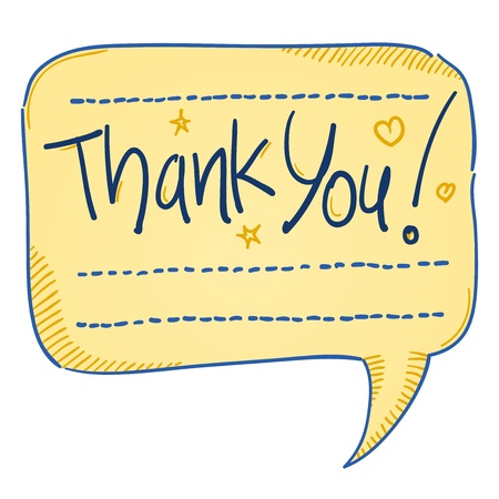 Thank You Comics Bubble Stock Vector - 18813887