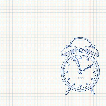 pencil drawings: Alarm Clock Doodle